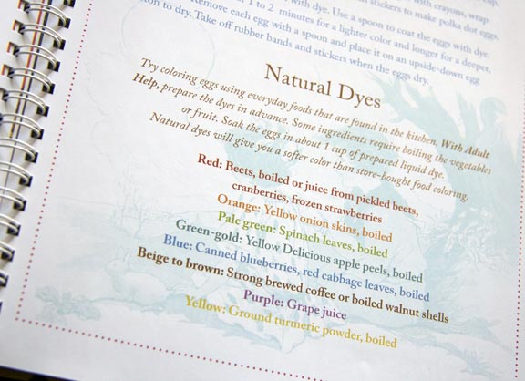 Natural dyes to post