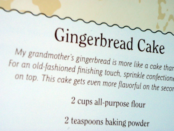 Gingercake book