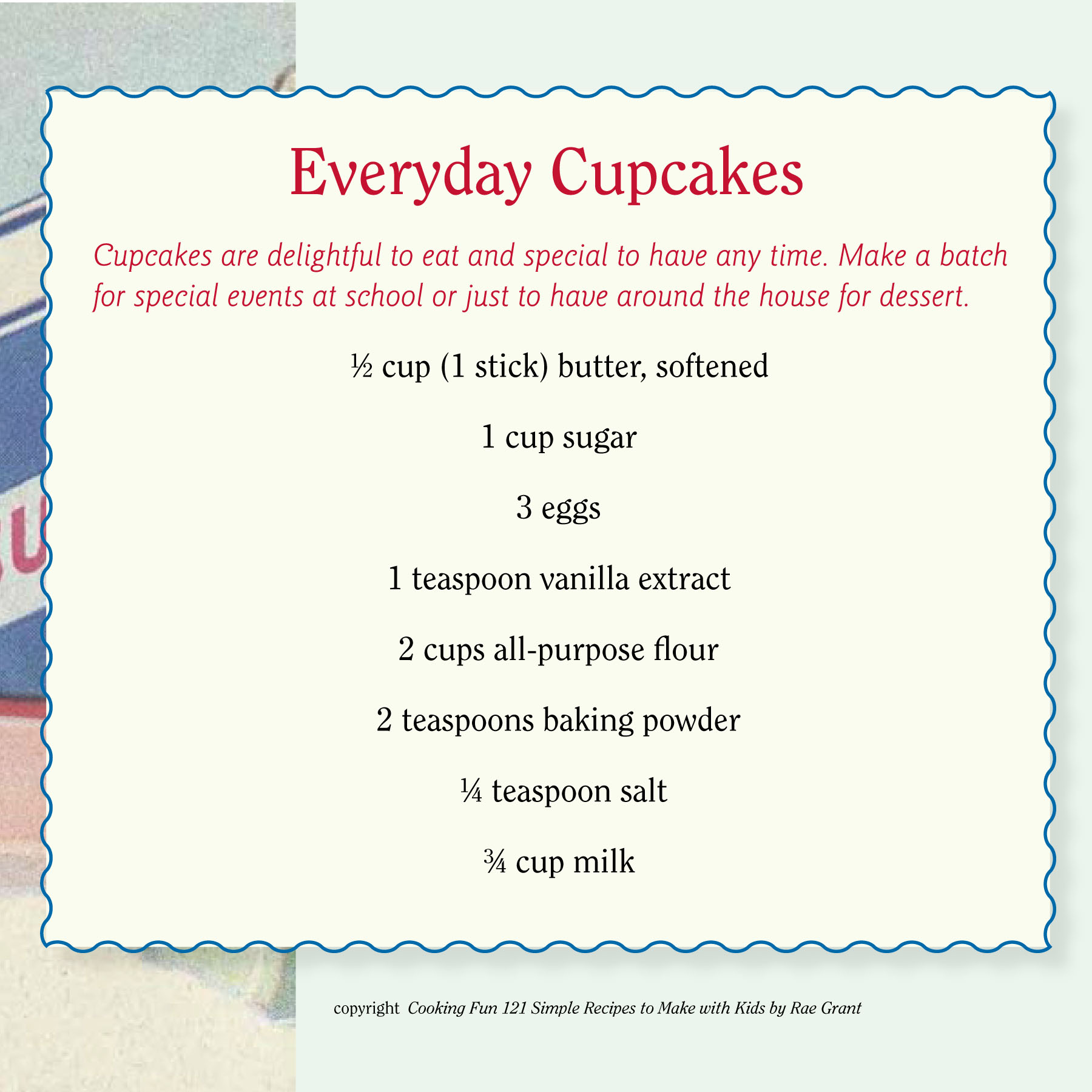 EVERYDAY CUPCAKE RECIPE CARD pg 1